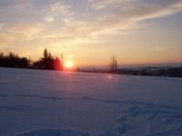 Sonnenuntergang in Irchwitz Februar 2006