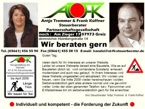 AT & FK   Antje Trommer & Frank Küffner      Steuerberater Partnerschaftsgesellschaft