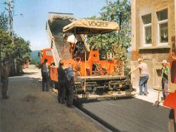 Straßenbau am Zieger 1993
